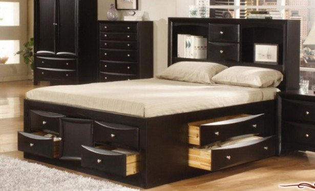 Bed ... & Designs Of Double Beds With Storage - Listitdallas