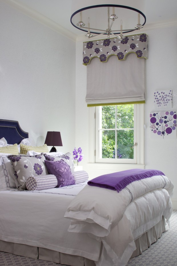 cool purple and white rooms bedroom