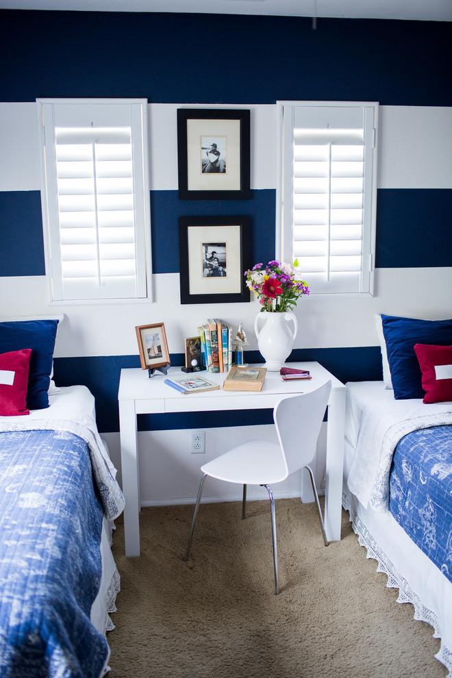 Modern Nursery Wallpaper Girl Boys Bedroom Paint Color Ideas