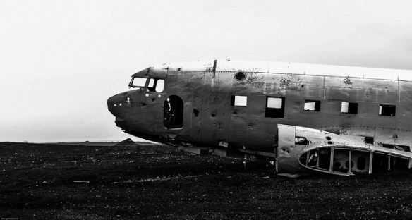 downed airplane