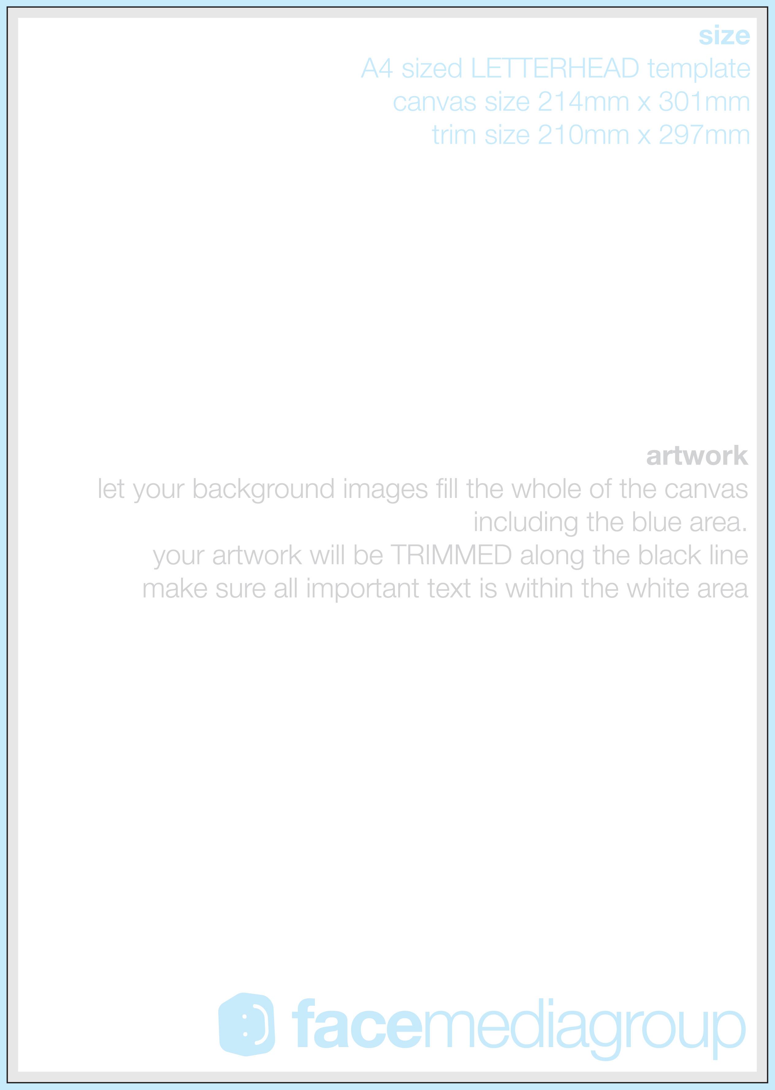 blank letterhead