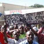 Anti government protesters demonstrate in Lilongwe on July 20. (AMOS GUMULIRA/AFP/GETTY IMAGES)