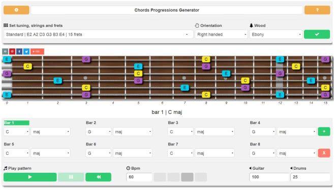 Chord Progression Generator For Guitar