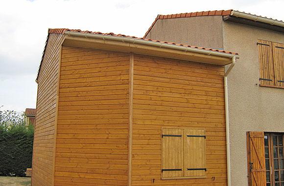 L 39 extension de maison bois dans l 39 is re ou la dr me la for Extension maison bois ou parpaing