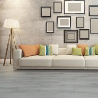 Engrave Light Grey Brushed Luxury Vinyl Plank - Factory ...