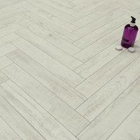 Prestige Herringbone True White 8mm Laminate Floor ...
