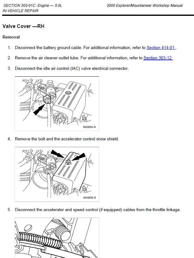 Ford Explorer 1995-2001 repair manual Factory Manual