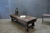 Craftsman Rolling Coffee Table Bench : Factory 20