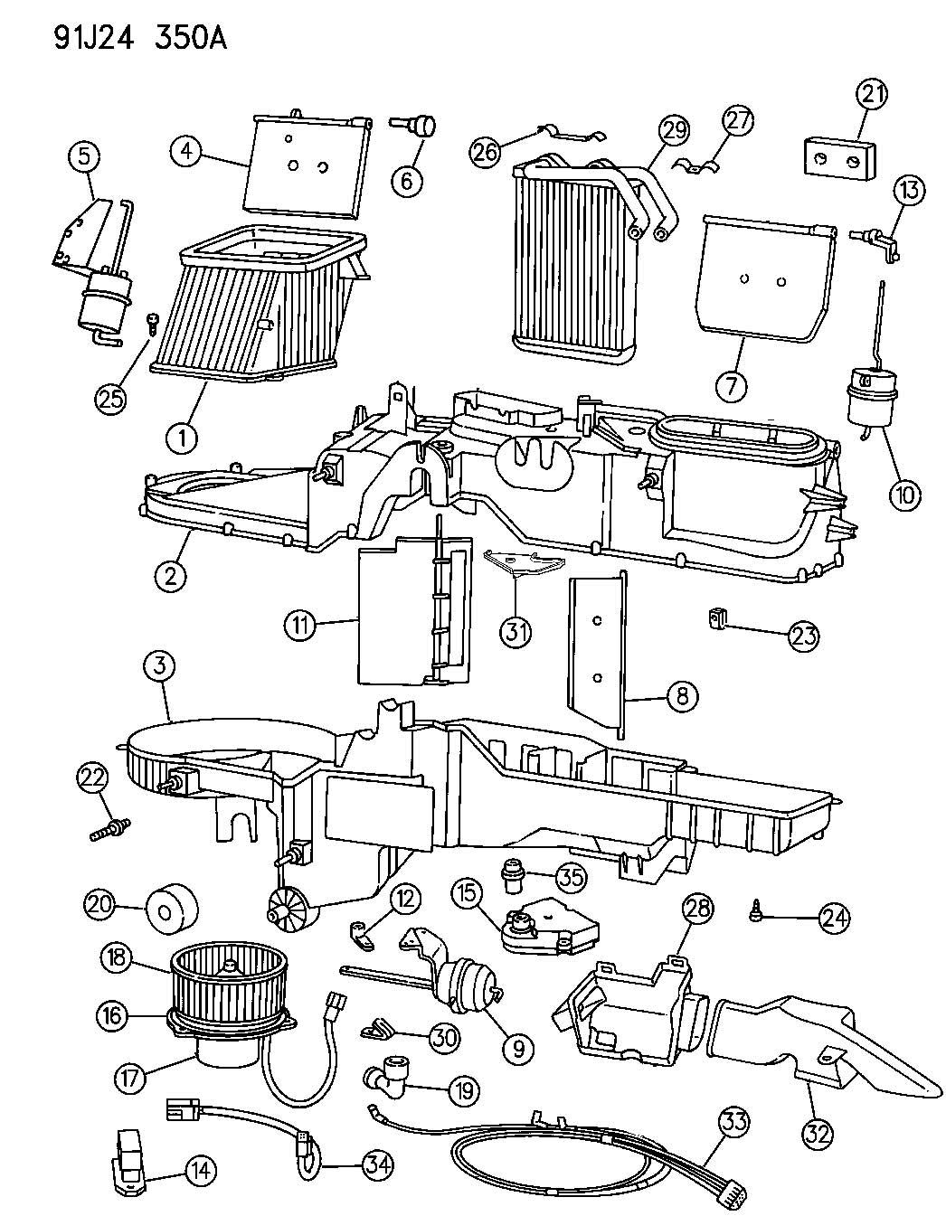 jeep tj blower motor wiring harness