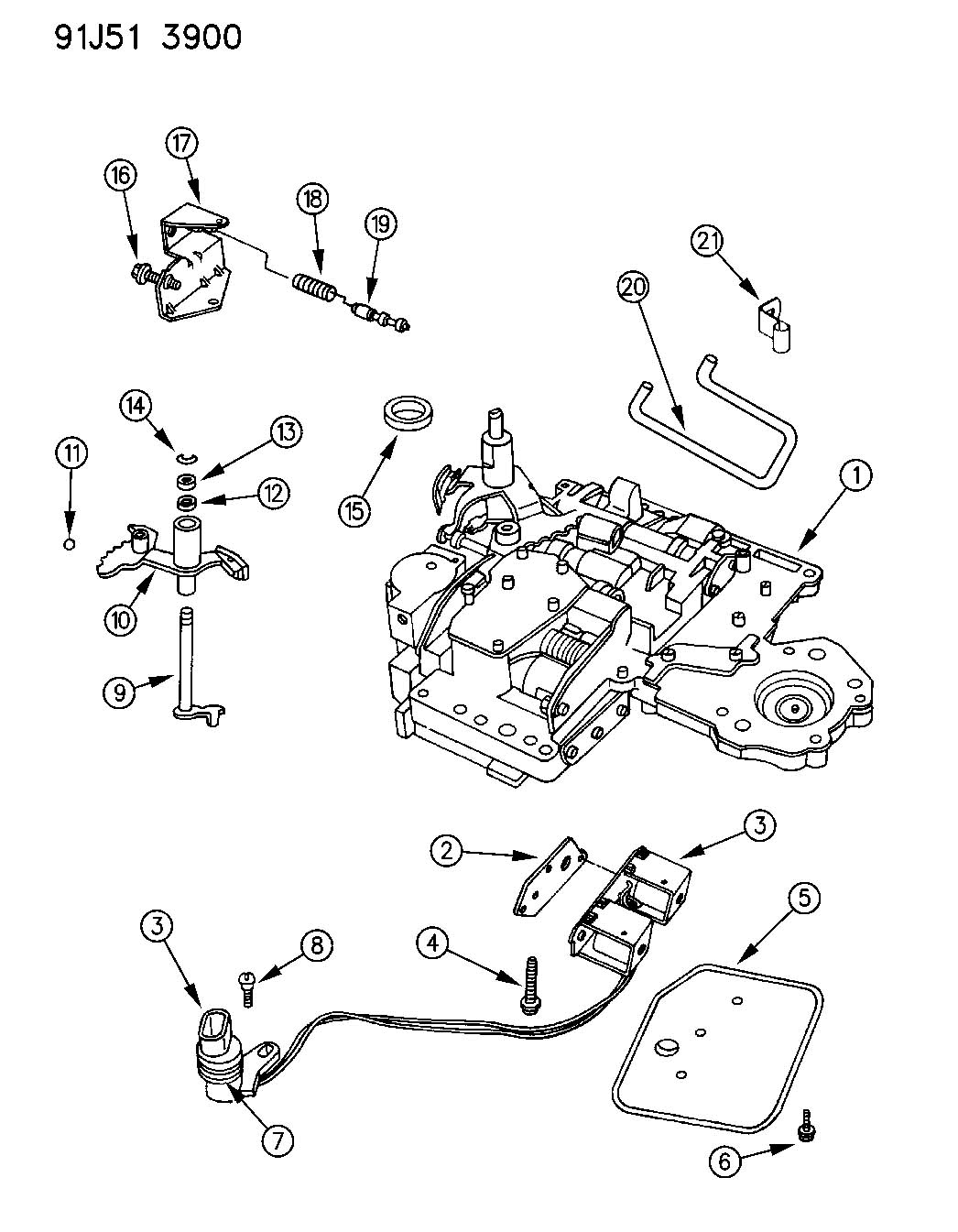 1999 dodge 47re transmission diagram