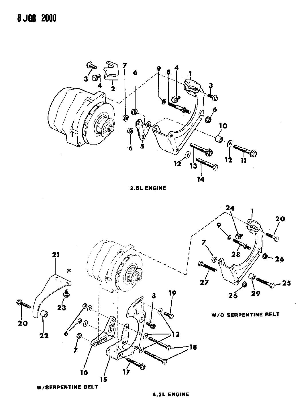 1988 jeep wrangler alternator wiring diagram