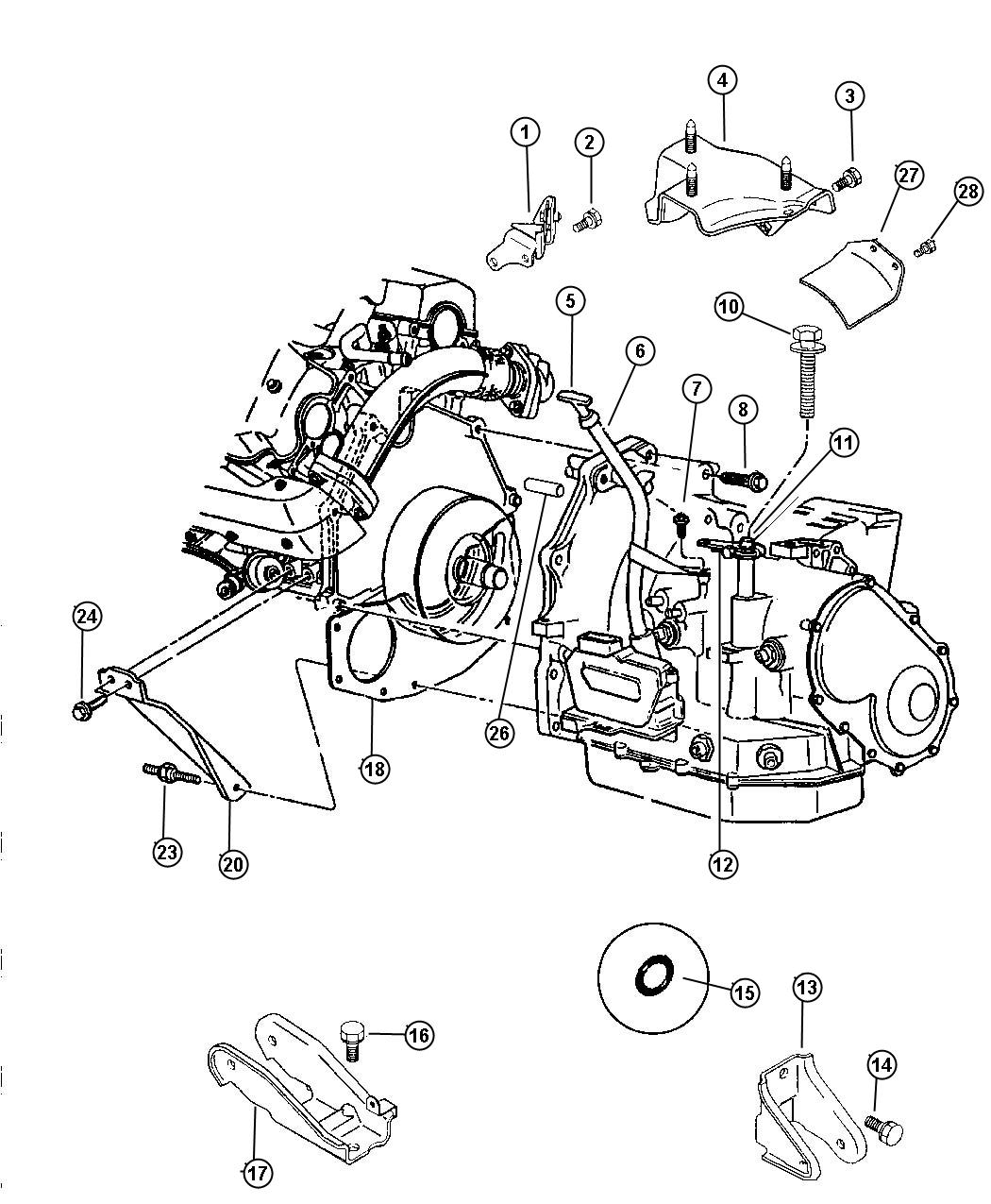 chrysler transmission diagram