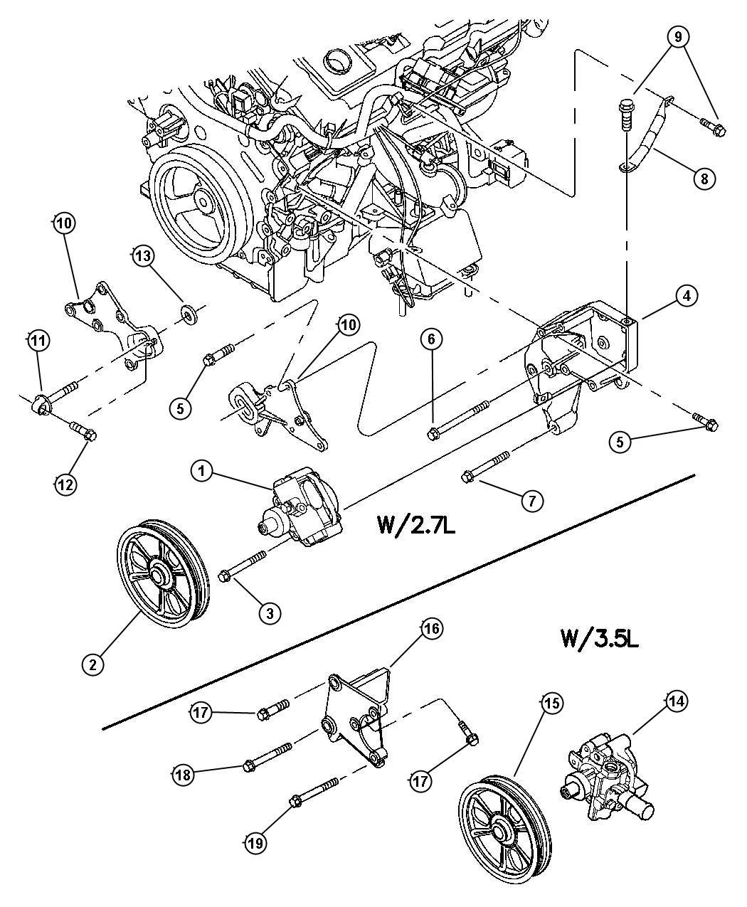 2007 chrysler 300 2.7 engine diagram
