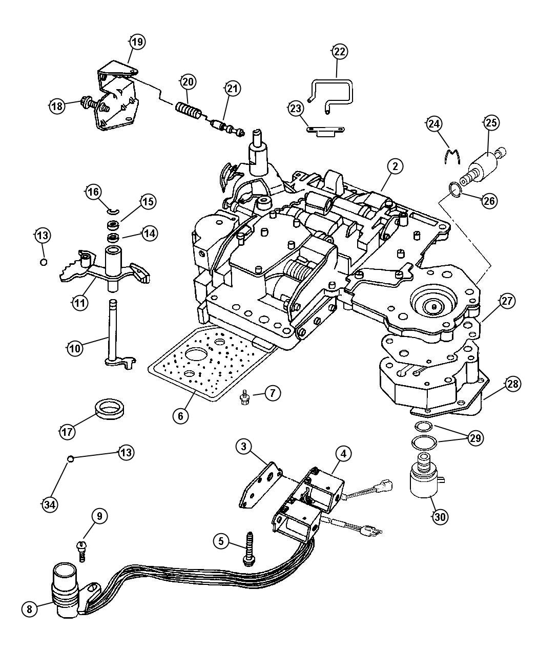 48re transmission valve body diagram
