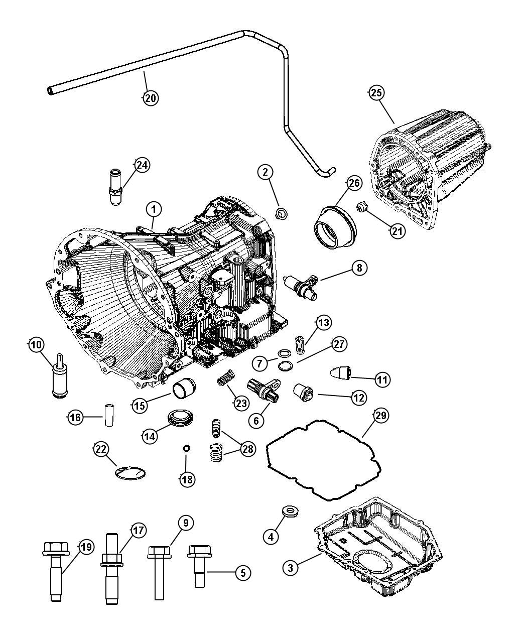 dodge ram transmission parts diagram