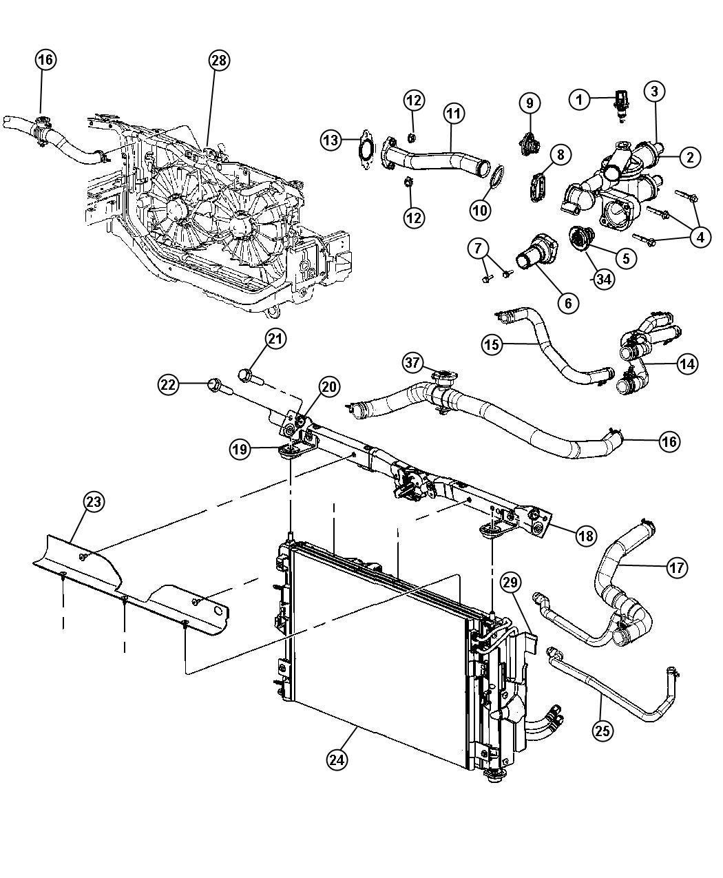 2006 dodge charger v6 Motor diagram