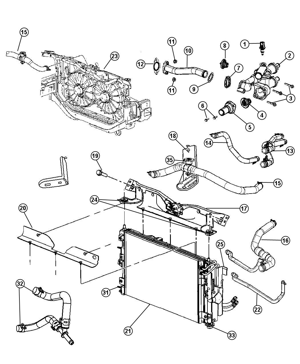 jeep tj parts cooling wiring diagram