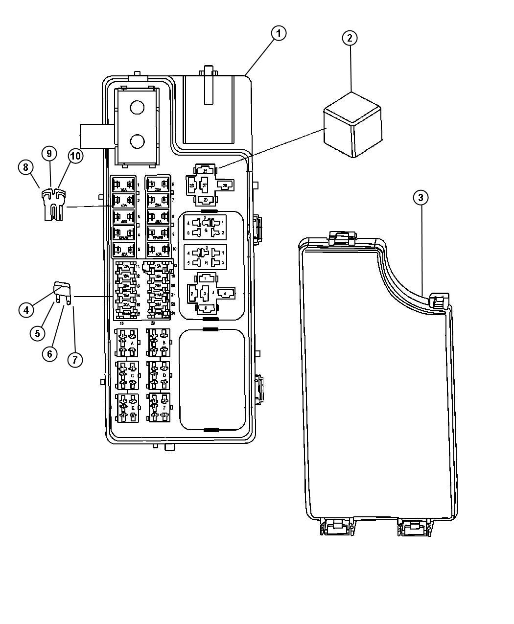 2015 chrysler 200 interior fuse box diagram