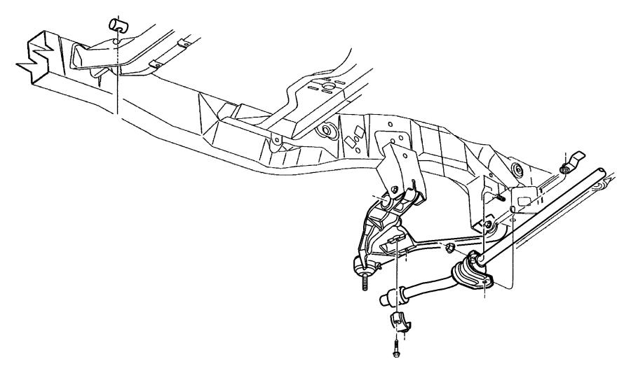 98 dodge dakota front suspension diagram