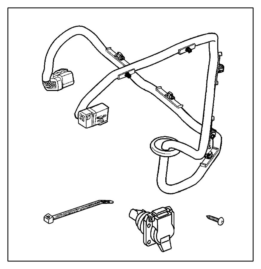 dodge ram trailer connector wiring