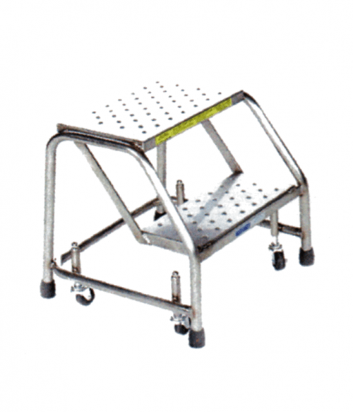Stainless Steel Spring Loaded Caster Ladder Factory