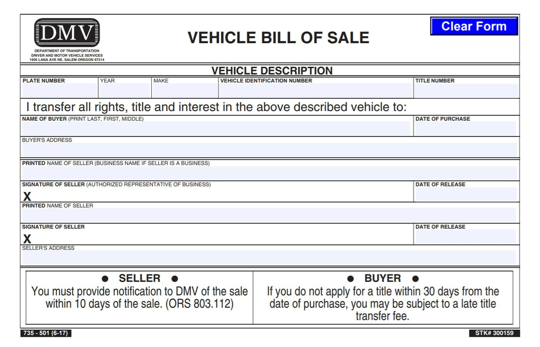 bill of sale utah car