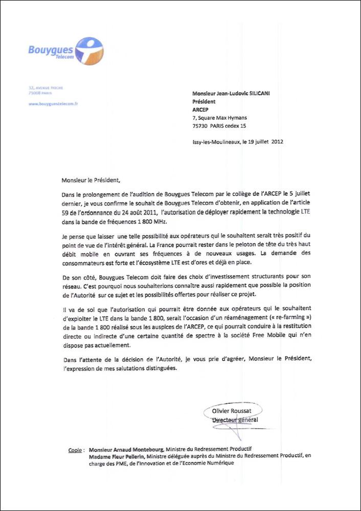 photo modele de lettre de resiliation bouygues telecom lettre de motivation