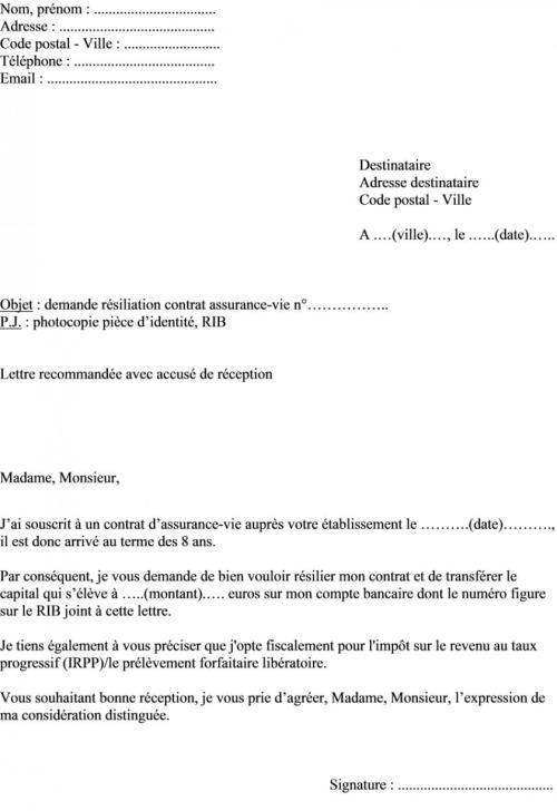 exemple lettre resiliation assurance voiture vendu exemple de lettre