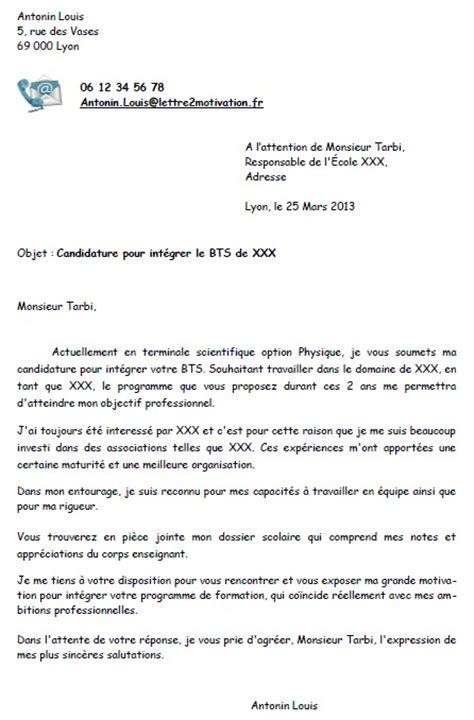 lettre de proposition de stage - Modele de lettre type