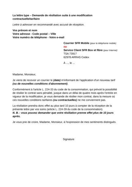 lettre resiliation depart etranger