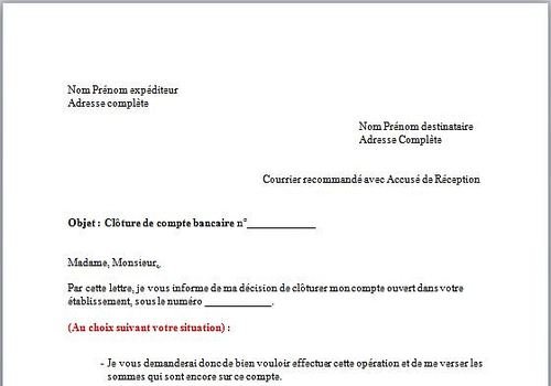cloturer une lettre administrative