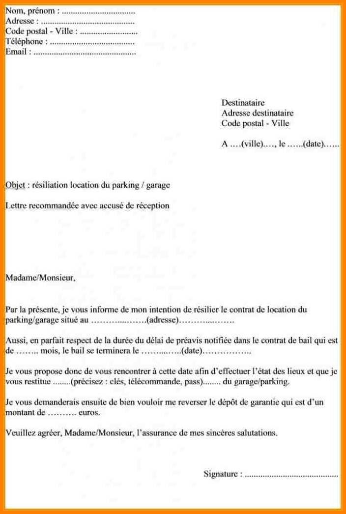 lettre resiliation mandat courtier