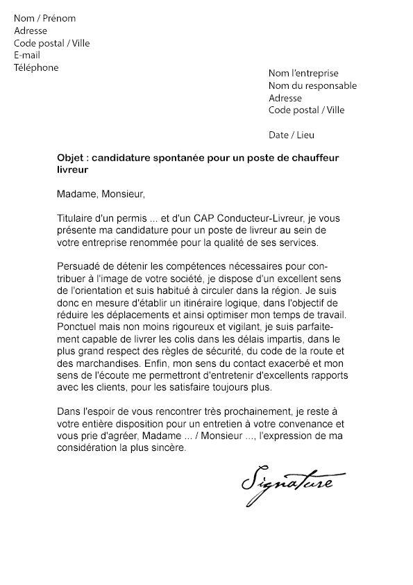 lettre pour demander un service