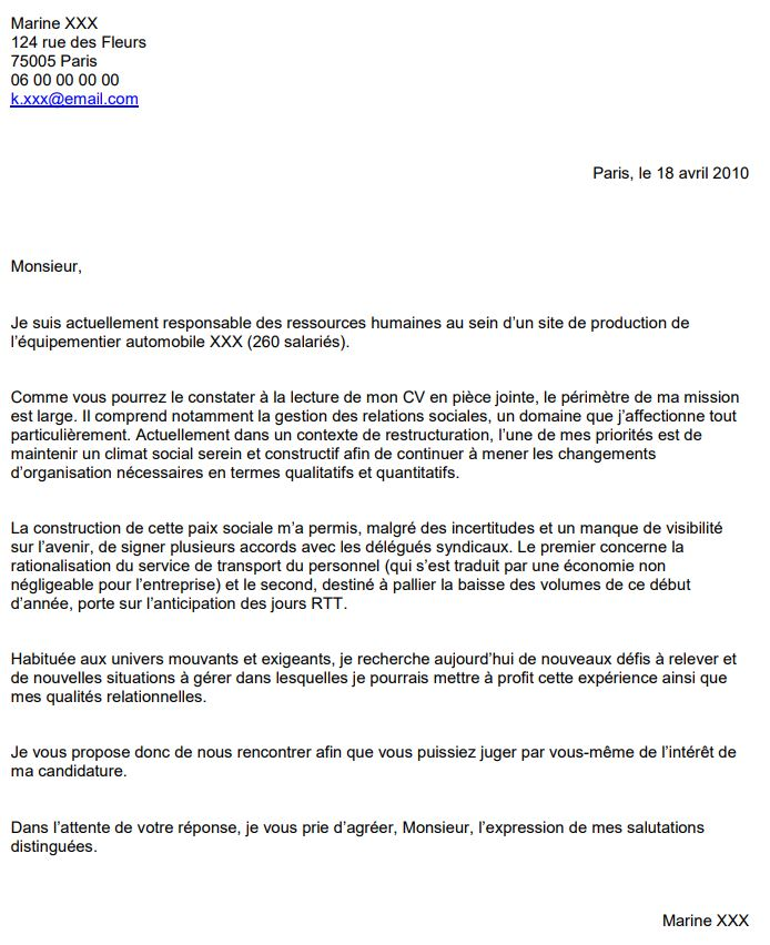 comment faire un cv simple candidature spontanee