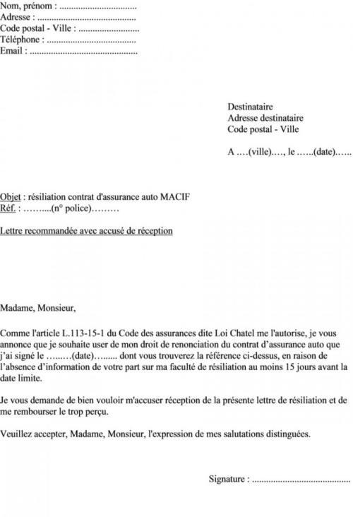 image lettre de resiliation assurance mutuelle sante modele cv