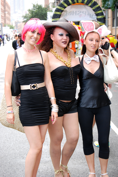 Three Images of Women in Black