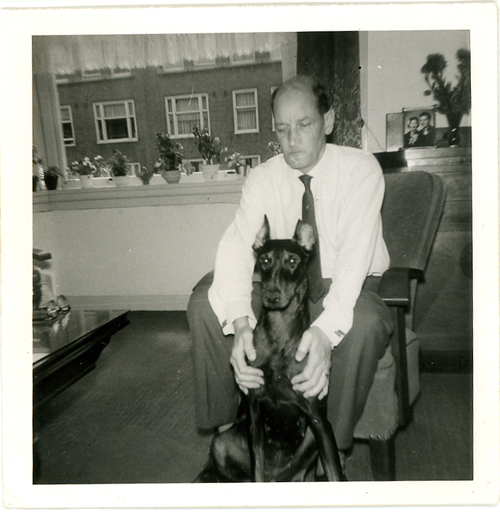 Frans Broekveldt II with Sabra the Doberman