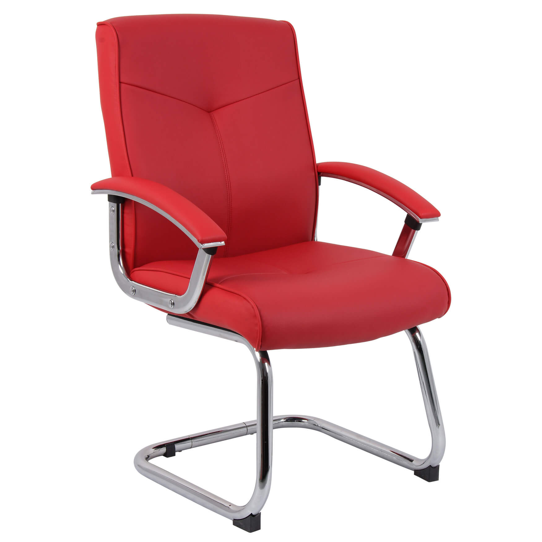 Cannes Contemporary Leather Office Chair Red Office