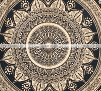 Black Gold Ombre Mandala Twin Size Duvet Cover Bed Sheet Set