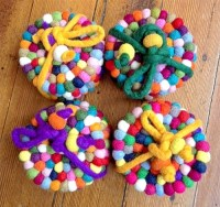 Felt Coasters Set of 4 - Fair Trade Winds