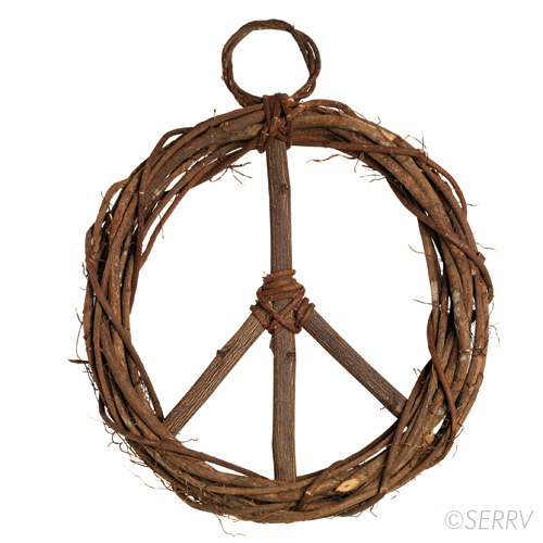 vine peace wreath