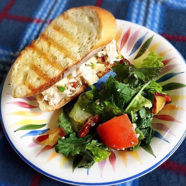 Garlic Herb Chicken Salad Sandwich