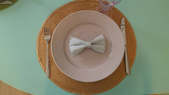 napkin fold cute bow