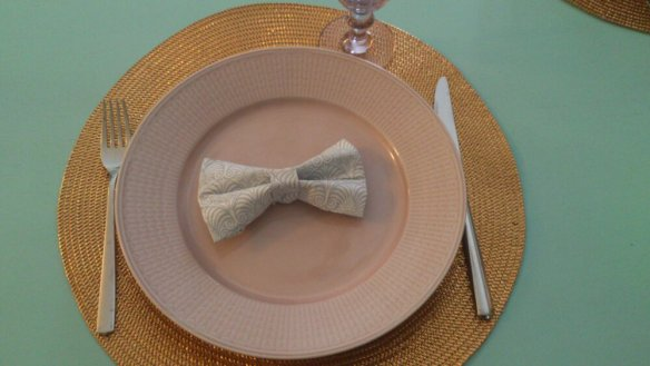 romantic cute paper fold napkin decoration paperboy