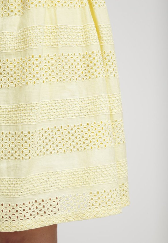 lemon yellow summer skirt