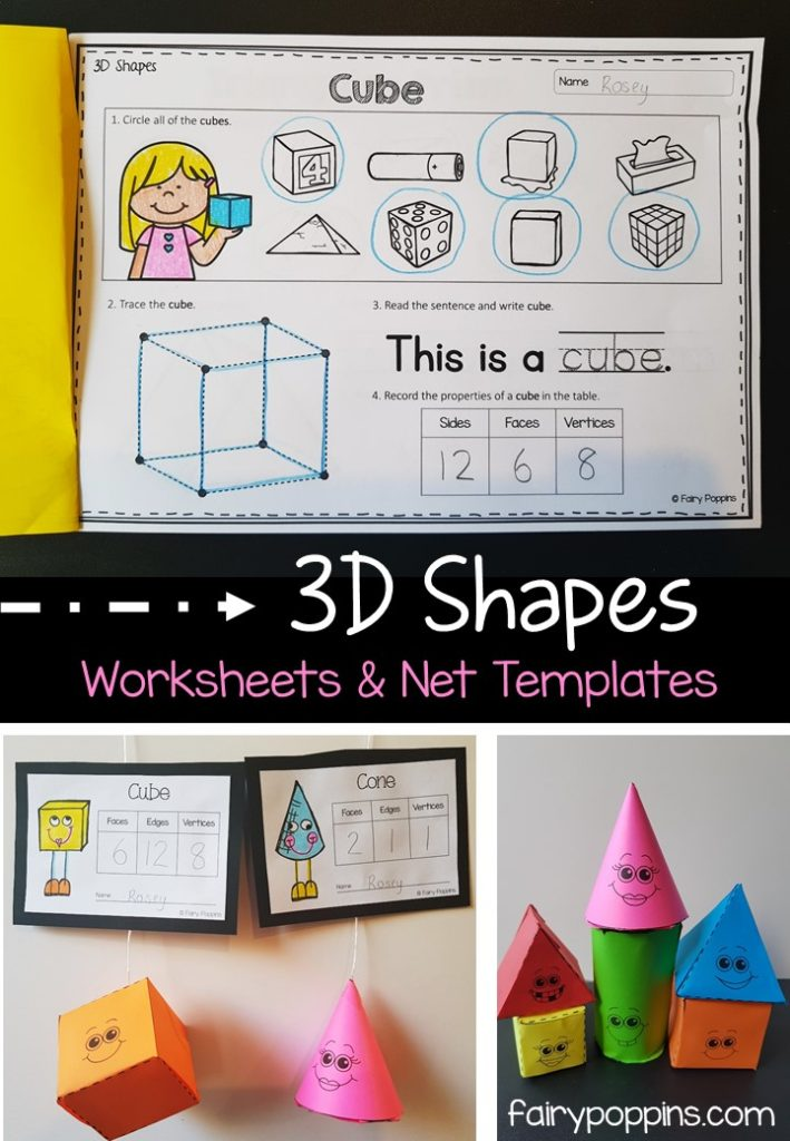 2D and 3D Shapes Activities Fairy Poppins
