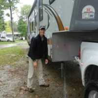 Rain in Maine before departing for New Hampshire