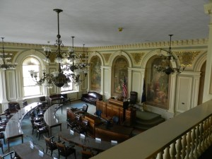 the Senate Chambers, NH state house, Concord