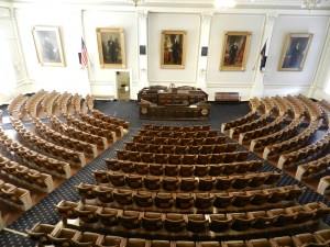 the House Chambers, NH state house, Concord