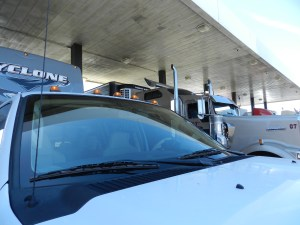 big rigs fuel up with semi trucks